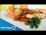 Pescado y camarones en agua Pazza / Receta Pescado / Recetas italianas