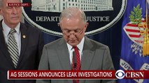 "Attorney general cracks down on ""culture of leaking"""