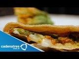 Receta Quesadillas de queso de cabra y flor de calabaza / Cómo preparar quesadillas