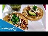 Receta de Tacos de Setas con Salsa Verde Asada/ Receta de Tacos de Setas