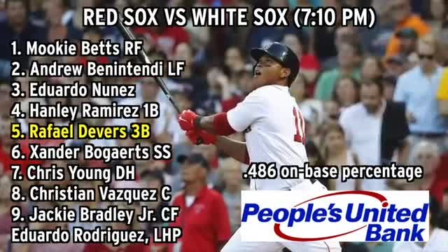 Red Sox Lineup: Rafael Devers Batting Fifth Vs. White Sox