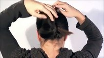 ☆ Hair style  in 1 minute French Twist with a stick very easy   Beauty And Style ☆ Style