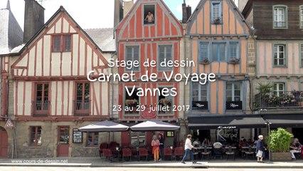 Stage de dessin carnet de voyage à Vannes 2017