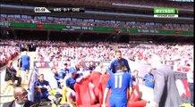 Kolasinac Goal - Arsenal vs Chelsea 1-1  06.08.2017 (HD)
