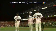 2009 Giants: Bengie Molina hits a 3 run shot, gives the Giants the lead vs Diamondbacks (8