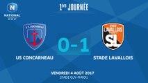 J1 : US Concarneau - Stade Lavallois MFC (0-1), le résumé
