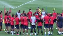 Neymar First Training in PSG - ft. Dani Alves, Lucas, Thiago Silva