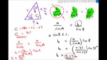Using the Sine Rule on Non Right Angled Triangles to Find Unknown Lengths and Angles V2