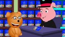 Mega Gummy bear crying bought new giant piggy bank finger family rhymes for kids   Gummybe