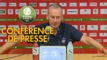 Conférence de presse AC Ajaccio - Stade Brestois 29 (2-1) : Olivier PANTALONI (ACA) - Jean-Marc FURLAN (BREST) - 2017/2018