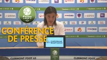 Conférence de presse Clermont Foot - Tours FC (2-0) : Corinne DIACRE (CF63) - Gilbert  ZOONEKYND (TOURS) - 2017/2018