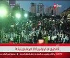 الآلاف من الشعب الفلسطينى يشعلون سماء غزة تضامناً مع الشعب المصرى