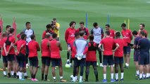 Neymar First Training in PSG - ft. Dani Alves, Lucas, Thiago Silva 04-08-2017