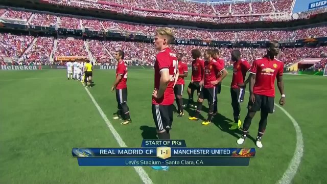 AMAIZING Penalty Series Real Madrid vs Manchester United HD 720i 24.07.2017