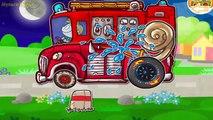 Construire voiture des voitures au volant feu pour enfants un camion vidéos la police de demain  