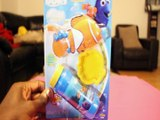 DISNEY PIXAR FINDING DORY DIP & BLOW BUBBLES NEMO POWERED BY SUPER MIRACLES BUBBLES REVIEW UNBOXING Toys
