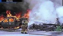 Honolulu helicopter crash caught on camera; CH 53E Super Stallion falls into sea Compilati