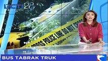 Berhenti Mendadak, Sebuah Bus Ringsek Tabrak Truk di Jomba Jawa Timur