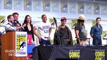 JUSTICE LEAGUE Assemble At Comic Con Ben Affleck, Gal Gadot, Ezra Miller, Jason Momoa, Ray