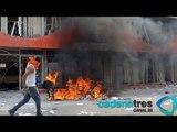 Maestros disidentes destruyen las sedes de los partidos políticos de Guerrero
