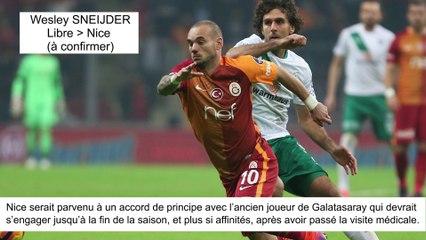 JT du Mercato (07/08/17) : Sneijder à Nice, Dalbert à Inter Milan, Pereira vers PSG...