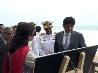 Sindh Chief Minister Syed Murad Ali Shah being briefed about proposed uplift of Manora and Hawksbay
