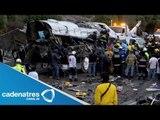Autobús causa la muerte de 8 peregrinos al volcarse en Villa del Carbón
