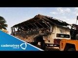 Mueren peregrinos por accidente de autobús / Accidente de autobús en Villa del Carbón