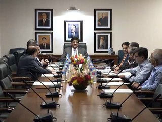 CM presides over a meeting on issues of traffic