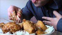 Eating Chicken Rice & Mango Pickle (Warning No Manners)