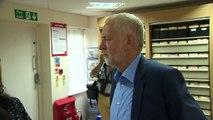 Jeremy Corbyn visits an NHS GP practice