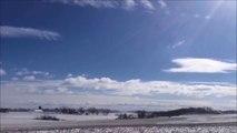 Time Lapse incroyable de vents d'hiver dans la nature