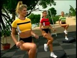 BODYSHAPING - PAGE LANGTON AND JENNIFER DEMPSTER - STEP AEROBICS WORKOUT - Fitness Muscle Female Bodybuilding Workout Routine