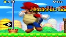 New Super Mario Bros DS Giant Blue Shell Mario vs Final Boss