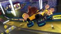 Mario Kart 8 Deluxe, Mario Kart Stadium, Mushroom Cup, Toad Link Bowser Peach, Nintendo Switch Wii U