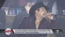 Julión Alvarez responde a la polémica por sus temas misóginos