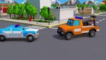 Dessin animé francais, voitures Policier et voitures Transport Colorées (1)
