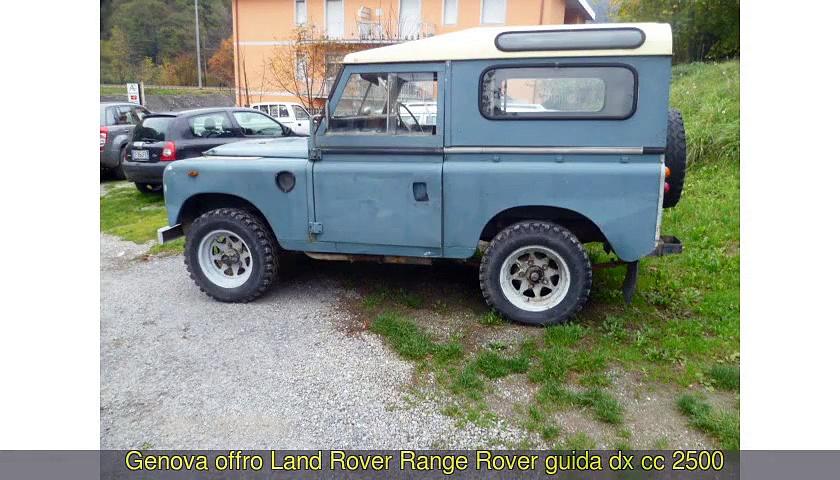 LAND ROVER  Range Rover cc 2500…