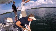 How to catch More Striped Bass with your Simrad Fish finder Stripers Striper Steve