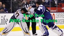 Top Ten NHL Goalie Fights