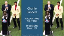 Charlie Sanders Hall of Fame Football Tight End