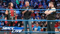 "Shane McMahon vs Kevin Owens vs Aj Styles - Shane McMahon's announced his ""Rules of Engagement"" - WWE Smackdown 8 August 2017 - WWE Smackdown Live 8/8/17 - WWE"