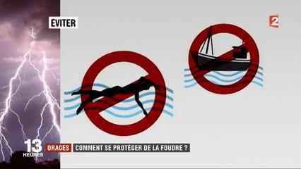 Orages : Comment se protéger de la foudre ? France 2 fait le point - Regardez