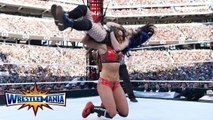 AJ Lee, Paige vs The Bella Twins (Nikki Bella, Brie Bella) Tag team match WrestleMania 31 - WWE