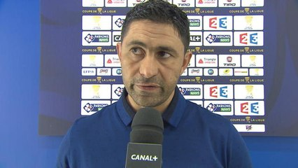 La réaction de Oswald Tanchot, l'entraîneur havrais - 1er tour de Coupe de la Ligue