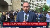 Militaires renversés à Levallois-Perret: la voiture toujours en fuite, la thèse d'attaque terroriste retenue