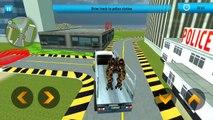 Androïde brillant par par rayon un camion X robot transport gamez gameplay hd