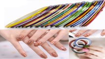 Nail Art For Beginners- How To Use Striping Tape For Nail Designs