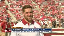 University of Oklahoma Sooners beat Kansas State Wildcats 38 17 at Gaylord Memorial Stadiu