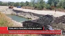 HES inşaat sahasına gömülen tonlarca atık bulundu